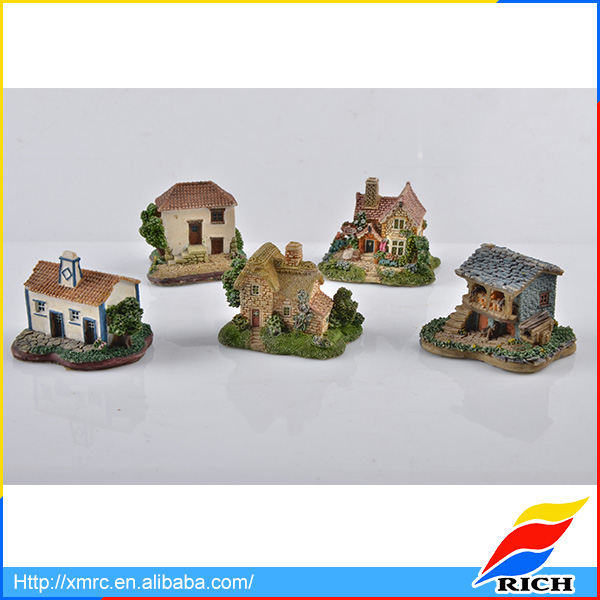 Cheap mini resin crafts models miniature houses for sale