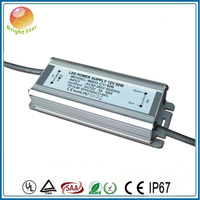 TUV CE SAA ETL listed waterproof led power supply 12v 60w with no flicker no noise