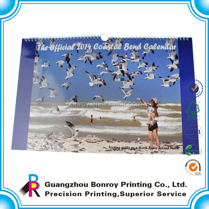 Chinese monthly daily calendar 2014 fast delivery