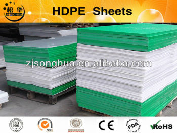 white and green HDPE sheet