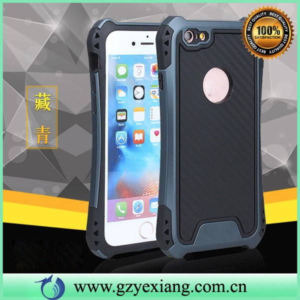 high quality carbon fiber shockproof armor case for iphone 5 pc tpu 2 in 1 back cover for iphone 5se
