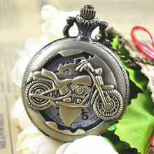 Wholesale Antique Pocket Watch Vintage Motorcycle Pocket Watch in bulk