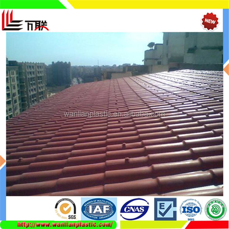 PVC Colored Plastic Flat Roof Sheet Synthetic Resin Tile