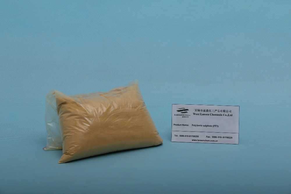 Poly Ferric Sulphate for water treatment/decolorizing and sludge dewatering