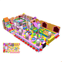 Popular candy style commercial children indoor playground