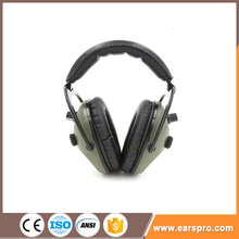 plastic insulative cap-mounted safety earmuff telescopic arms ear muffs