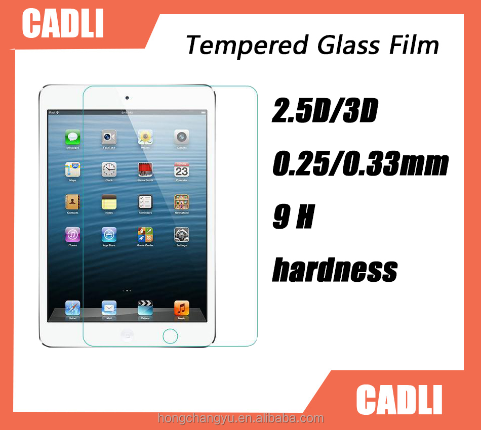 Superior quality 9H hardness high transparency Tempered glass film for Apple IPAD Pro
