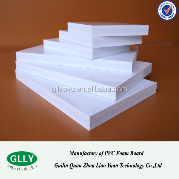 Diferent Thickness White Extruded PVC Rigid Foam Sheet PVC Material 4x8 pvc sheet