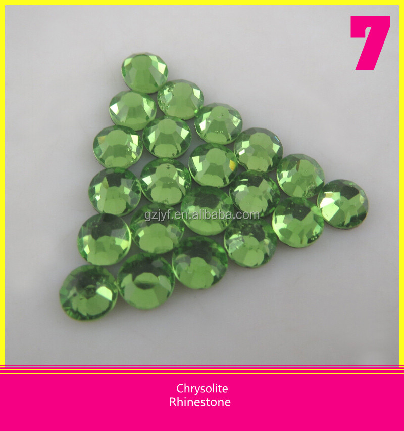 Support for Chrysolite SS30 Hot fix flatback <strong>Crystal</strong> for Shoes offer Customized Service Rhinestone