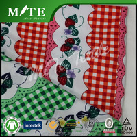 Polyester minimatt print fabric for table cloth
