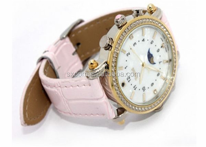 Mini Audio Video Camera Spy Lady Wrist Watch with MP3 Player