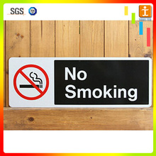 printed pvc corrugated plastic acrylic no smoking sign board