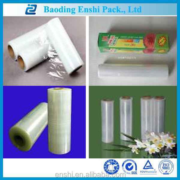 Plastic raw material casting transparent soft stretch HDPE food packaging film manufacturers