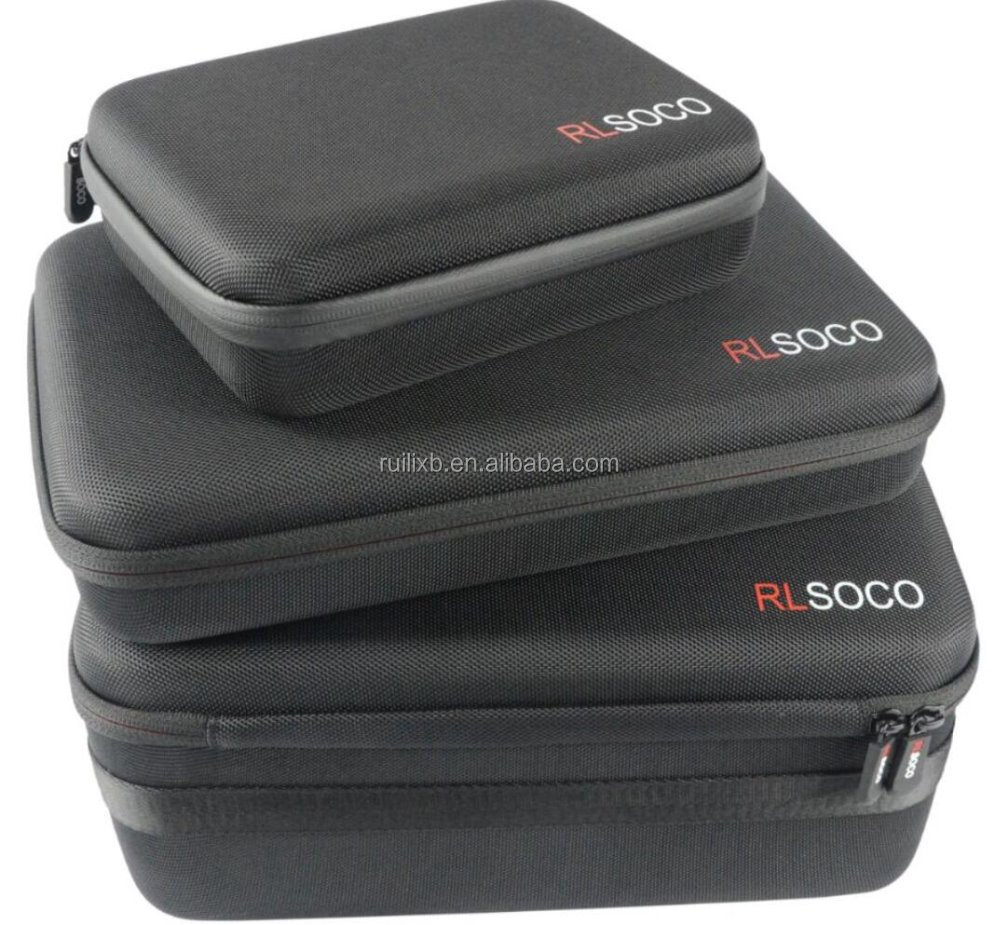 RLSOCO Fashionlive Black Hard Shell Travel Carrying Case EVA Bag with Zipper Cover Pouch