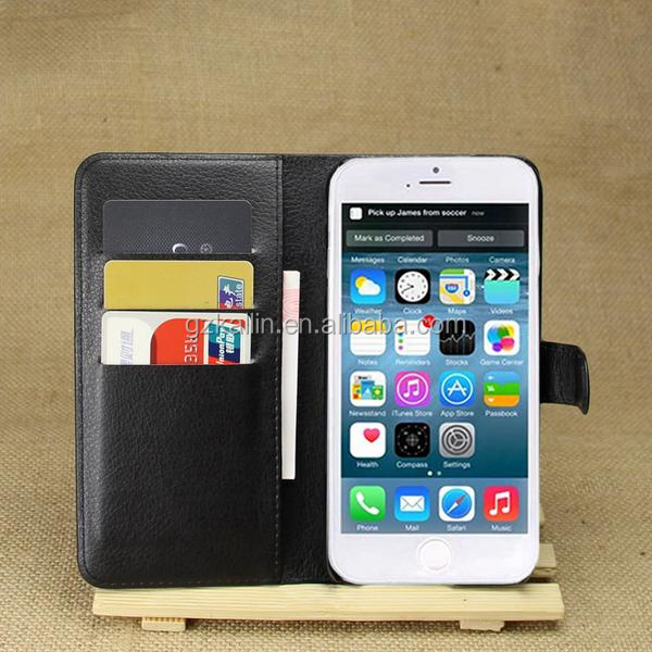 promotional fancy leather wallet cell phone cases for iphone 6