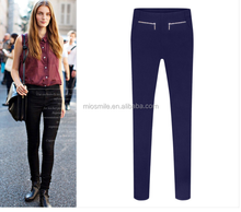 S31035A Wholesale high quality slim fit chino pants women fashion elastic pencil pants