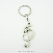Custom promotional gift zinc alloy music keychain