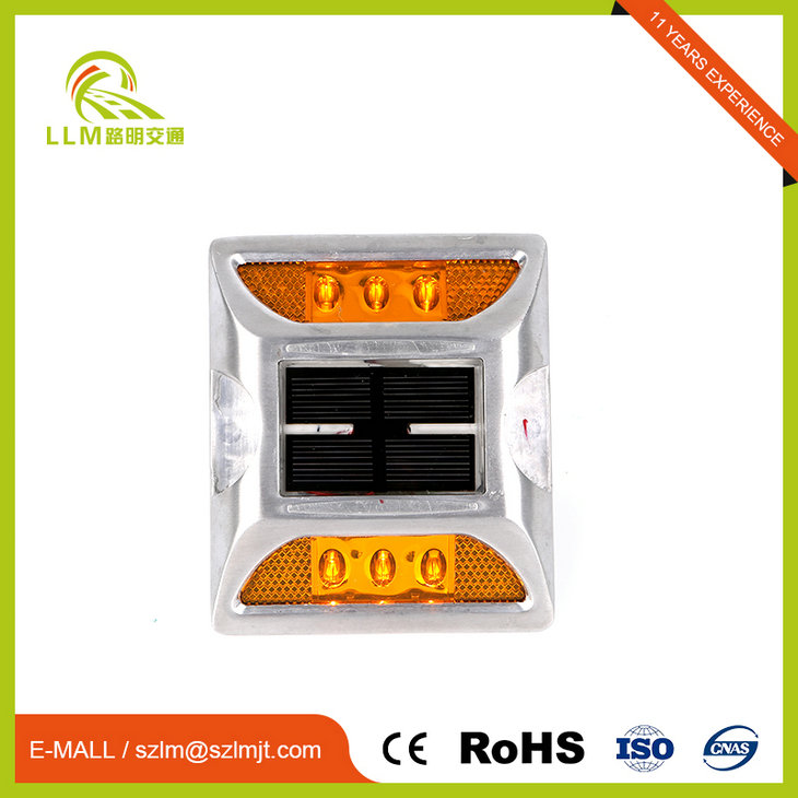 Imported solar panel flash working mode led cat eye powered road studs
