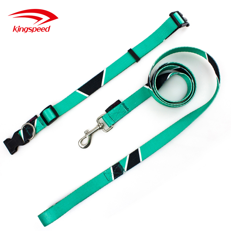 Sublimation Patterns Promotional Dog Collar and Leash