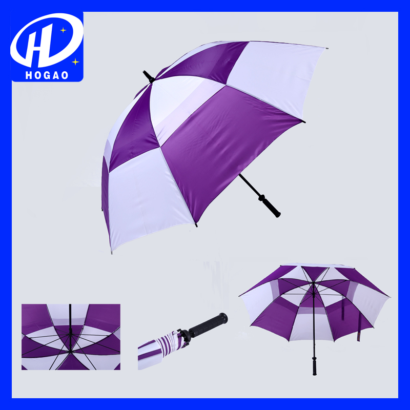 Custom outdoor rain purple and white color umbrella company in china full body umbrella for sale