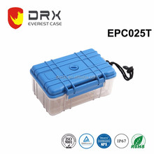 DRX ip67 blue waterproof clear lid plastic case
