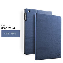 Shockproof tree texture Pu leather magnetic tablet cover for ipad 234cases for ipad 4th generation case