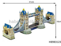 Wholesale Children educational 41 pcs Tower bridge in London promotion 3D paper puzzle game