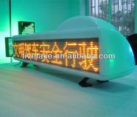 digital taxi top sign, advertising LED display on taxi