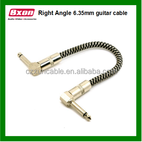 Right Angle Metal Plug 6.35mm Guitar Audio Cable