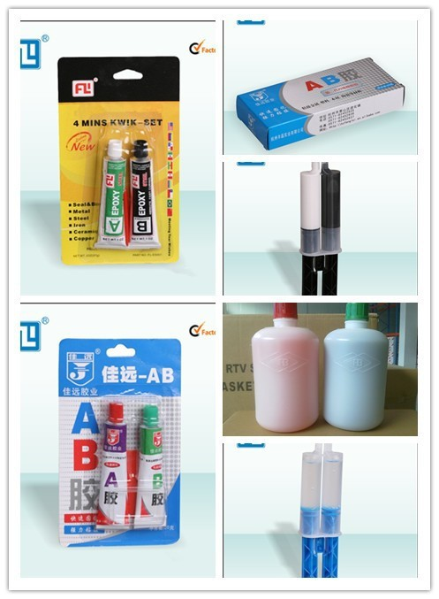 auto spare AB glue ,3-5 mins rapid clear glue ,two parts epoxy adhesive glue china manufacturer