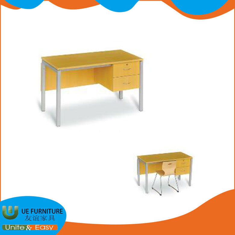 School furniture mdf desk top wood teacher desk with drawers