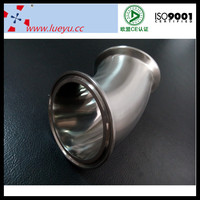 sanitary stainless steel 45 degree pipe fitting clamped elbow