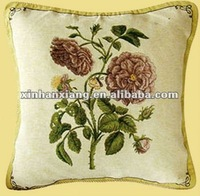 Charming China Rose with Butterfly Design Knitted Cushion Cover CT-022