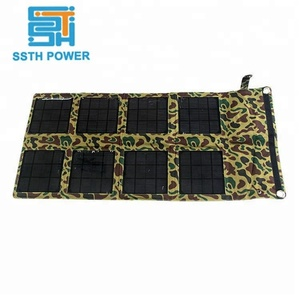 Outdoor travelling portable 24w solar cell phone laptop charger folding sunpower solar cell power charger