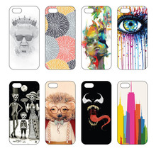 New product cellphone cases DIY Geometric Pattern Phone Shell Painting for iphone cell cover