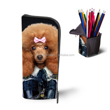 2017 Cool design MR./ MS. Animal Zipper Lock Pencil bag for Students Teen Colleage