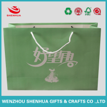 custom gift bag paper with cotton handles and logo