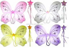 Latest cheap baby beautiful butterfly wings with magic wand wholesale WG4000