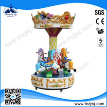 3 seats children play equipment chinese carousel china