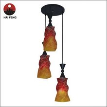 dining room colored glass chandelier/pendant lamp