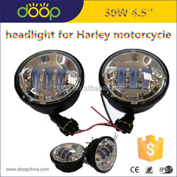 "Harley 4.5"" led headlight, LED Headlight 4.5'' Projector Daymaker Lamp, headlight for Harley motorcycle"