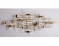 Modern plated stainless steel wall art sculpture