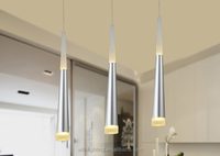 2016 hot selling modern aluminum chandelier silver led pendant lighting for restaurant