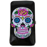 Fashion Skull Printing Pu Clutch Wallet Purse Credit Card Cash Holder Clip Phone Key Purse Wallet Case Cover Wholesale