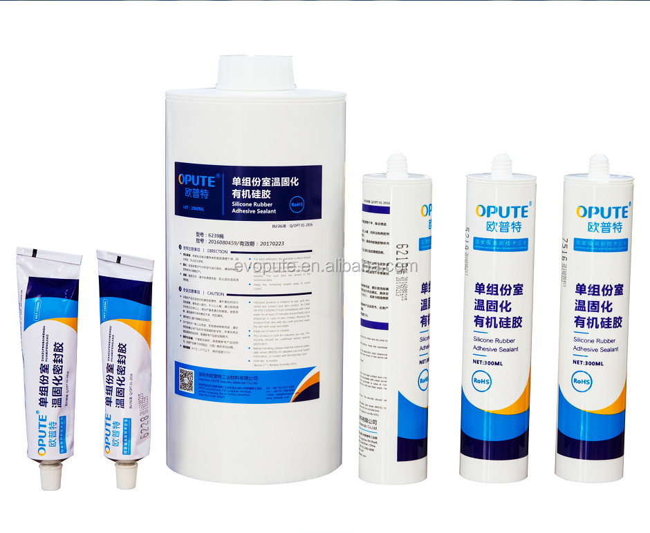 UV resistance one part transparent Neutral RTV waterproof weatherproof silicone adhesive glue rubber sealant guangdong suppliers
