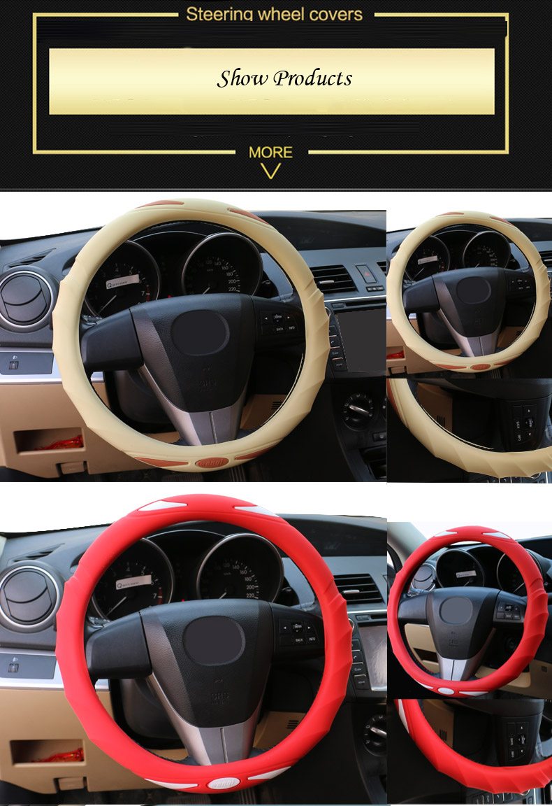 High Quality Silicone Car Steering Wheel Cover