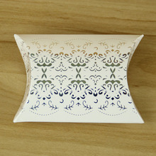Customized Printing Paper Pillow Sweet Paper Box With Silver Stamping