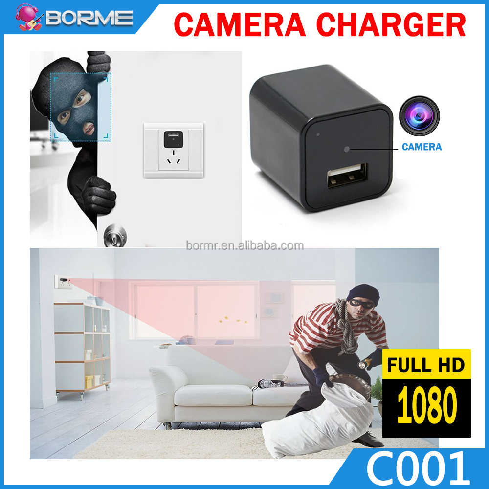 Wireless Hidden Mini USB Charger Camera 1080P Bedroom Bathroom Toilet recording everywhere