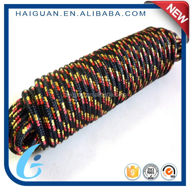 Multicolor Flat Marine Quality Diamond Braided Nylon/Polypropylene Rope Manufacturing
