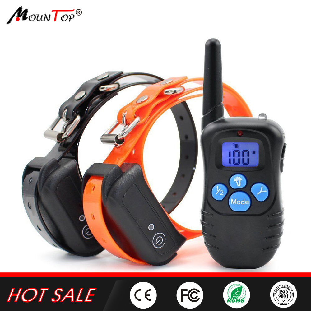Waterproof 330 Yard Electric Rechargeable Remote Pet SHOCK DOG SLAVE TRAINING COLLAR